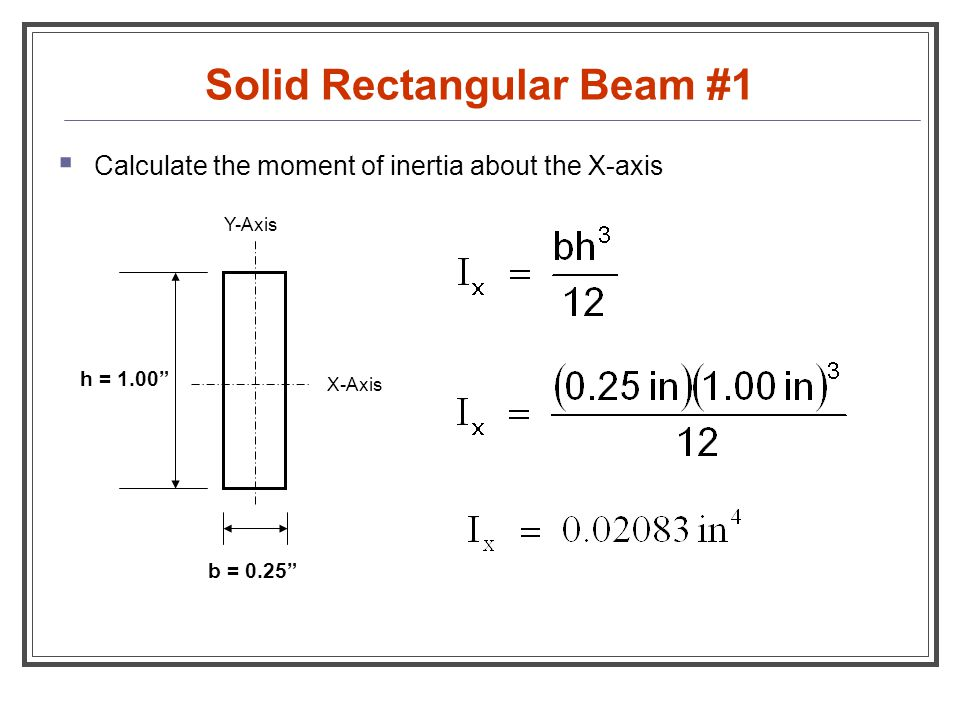Solid Rectangular Beam #1