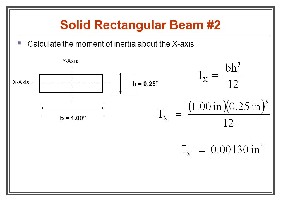 Solid Rectangular Beam #2