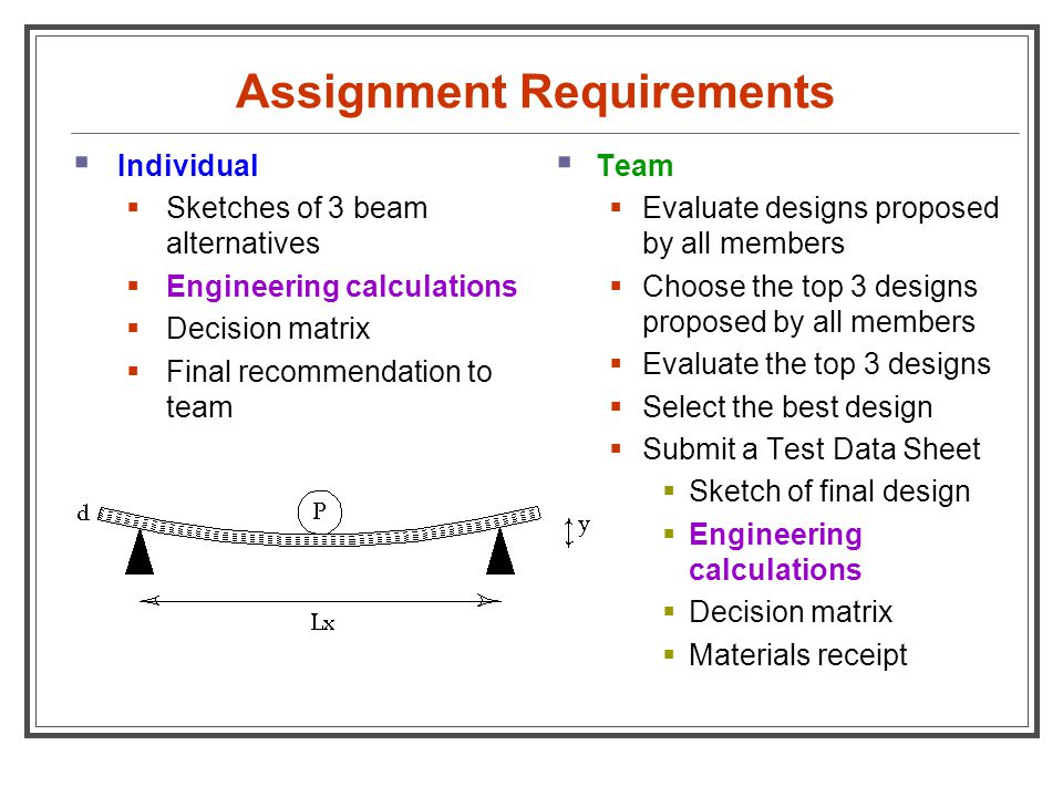 assignment requirements