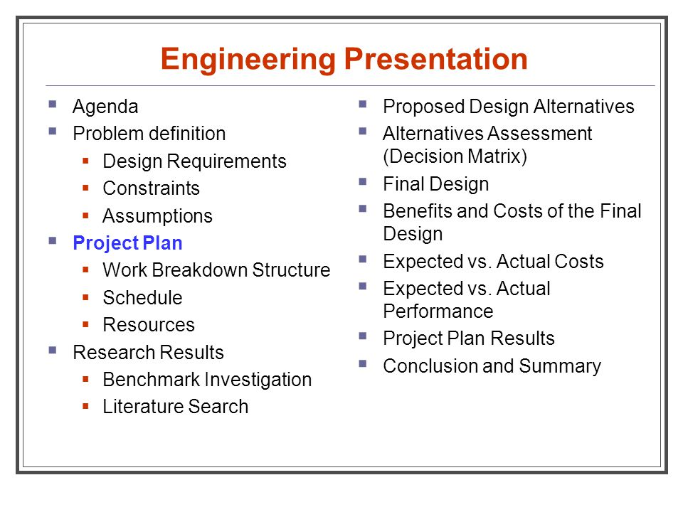 Engineering Presentation