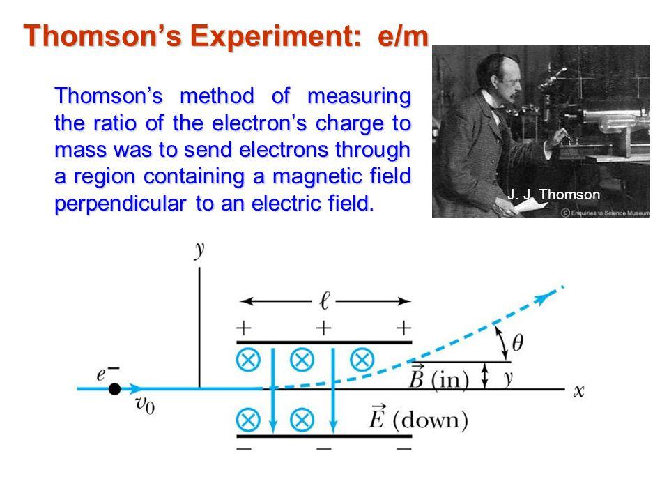 Thomson's Experiment: e/m