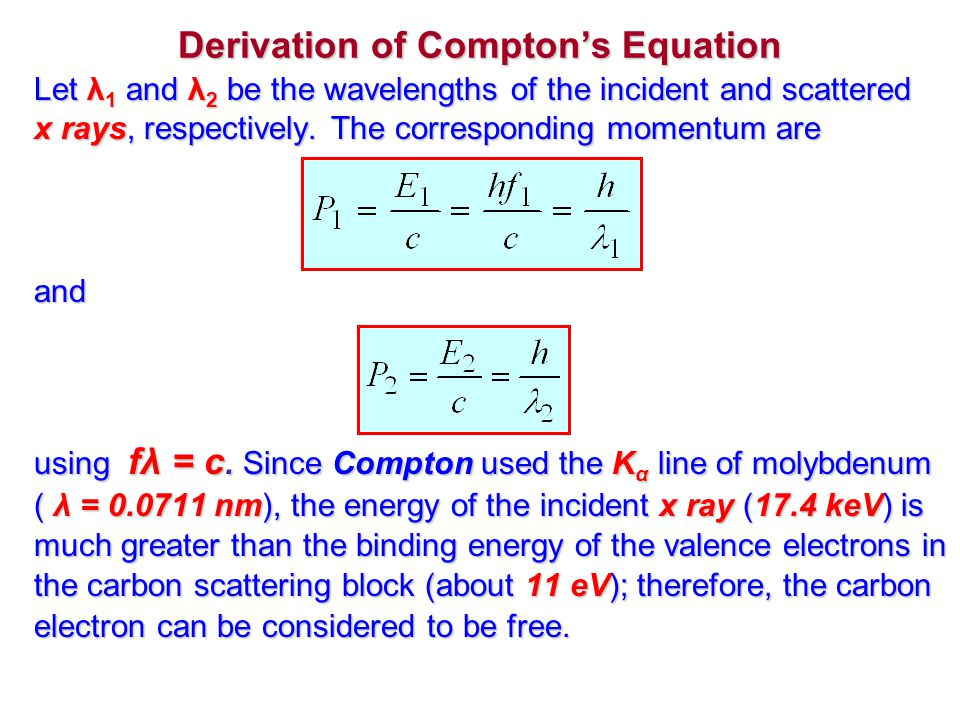 Derivation of Compton's Equation