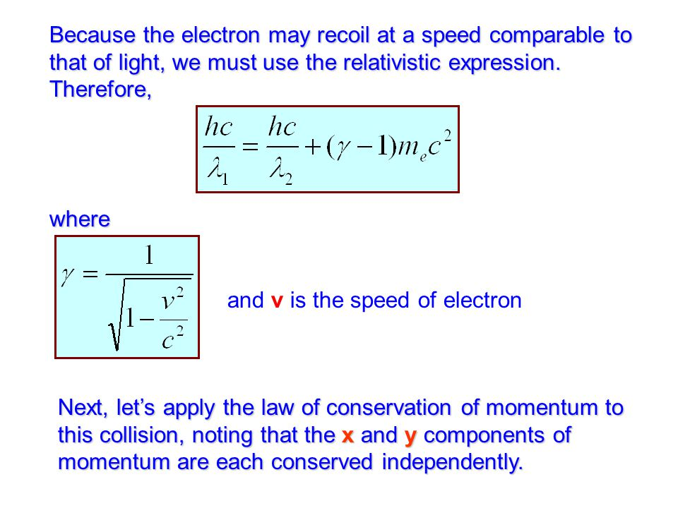 and v is the speed of electron
