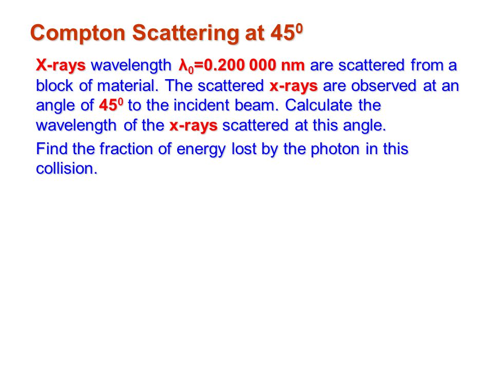 Compton Scattering at 450