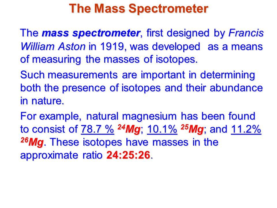 The Mass Spectrometer