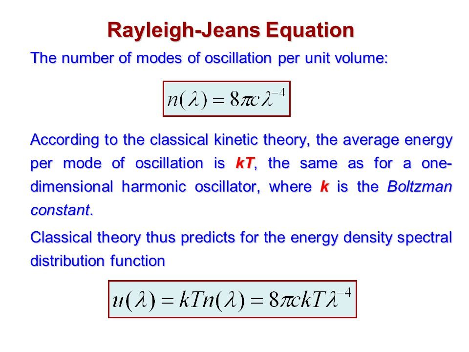 Rayleigh-Jeans Equation