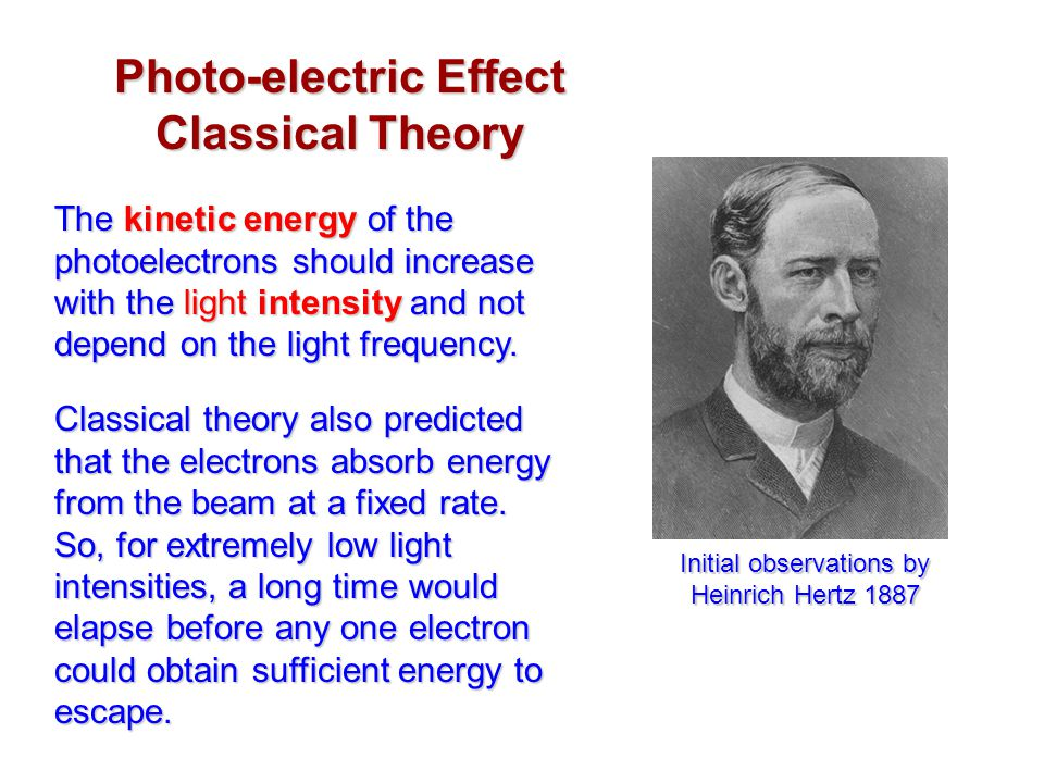 Photo-electric Effect Classical Theory