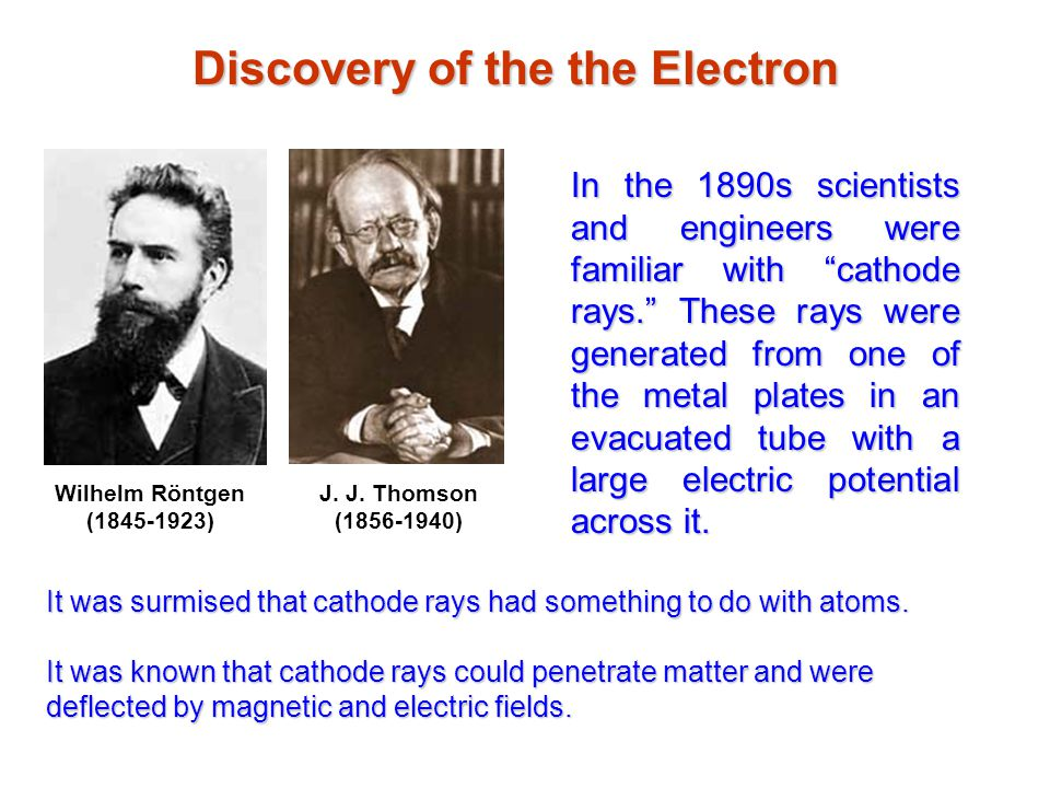Discovery of the the Electron