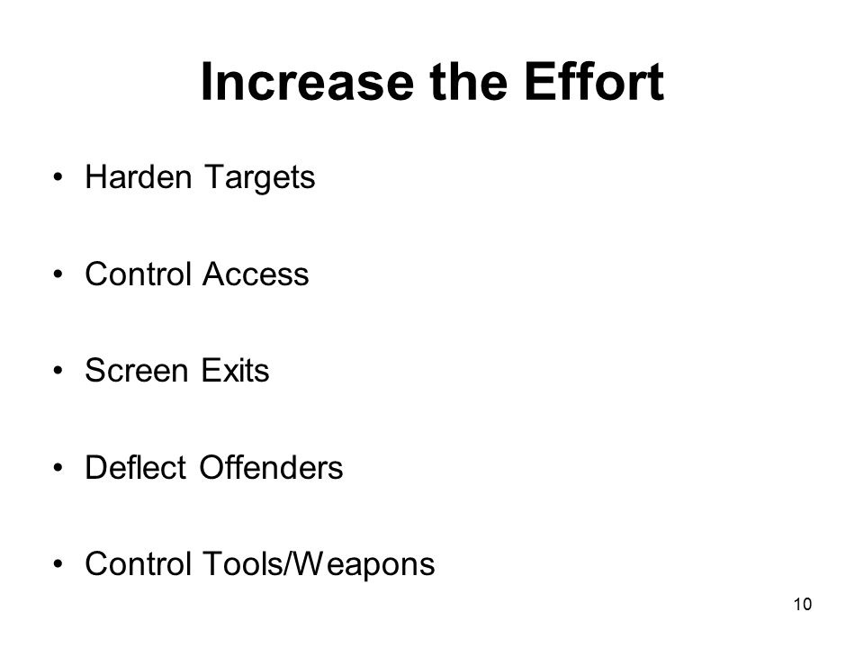 Increase the Effort Harden Targets Control Access Screen Exits