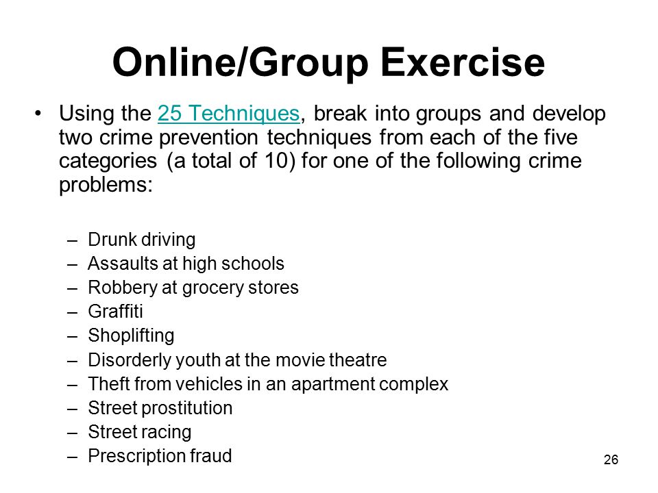 Online/Group Exercise