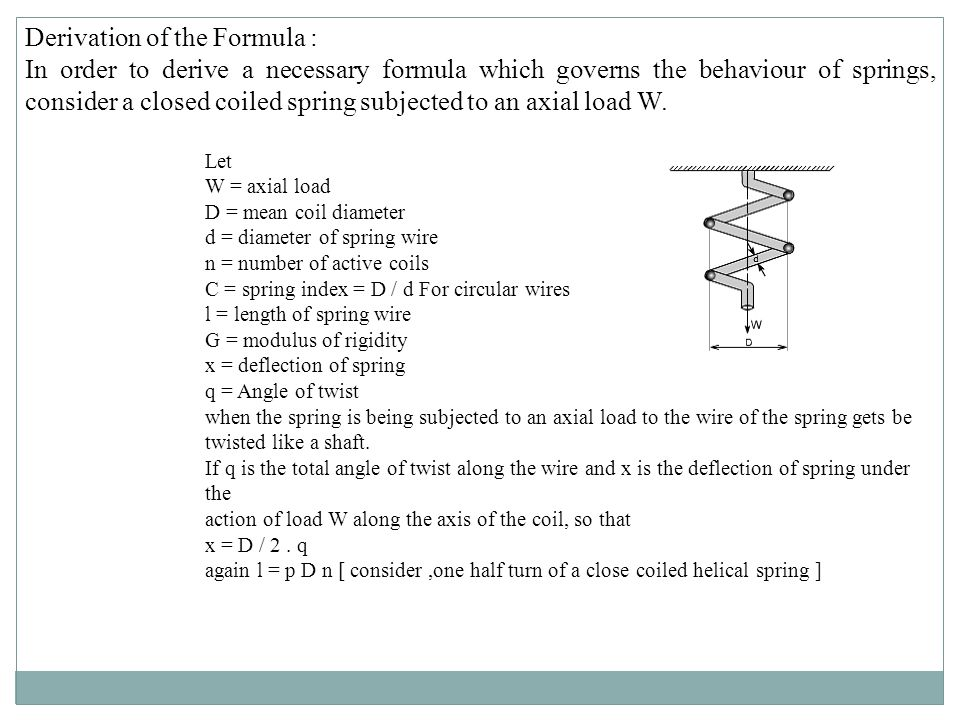 Derivation of the Formula :