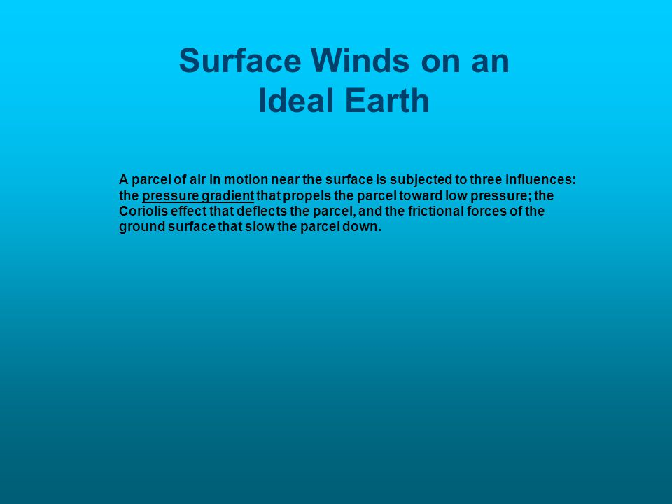 Surface Winds on an Ideal Earth