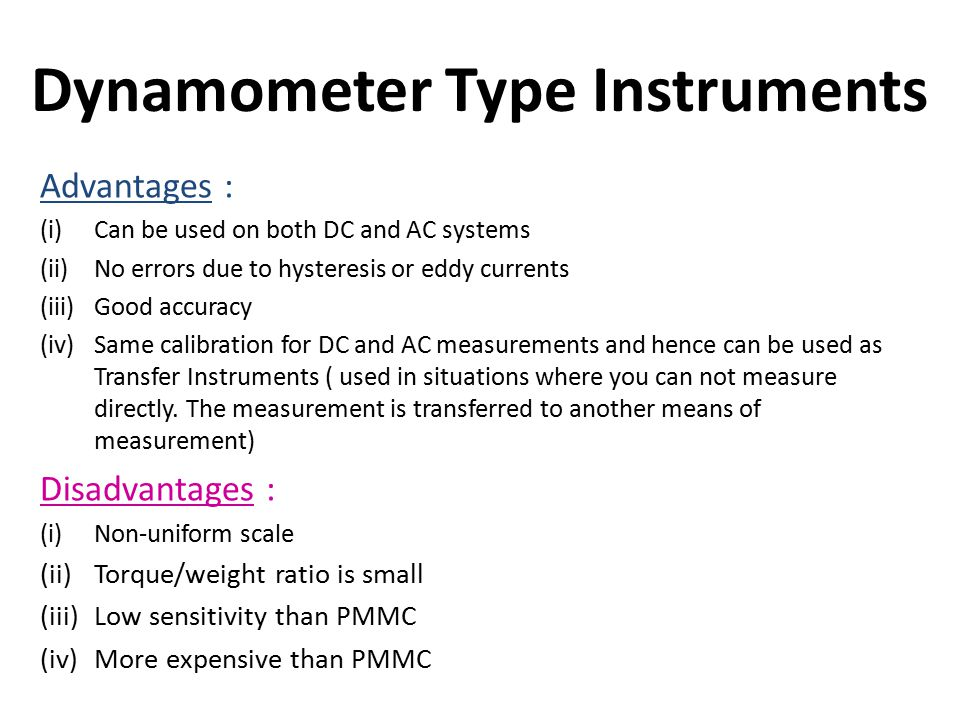 Dynamometer Type Instruments