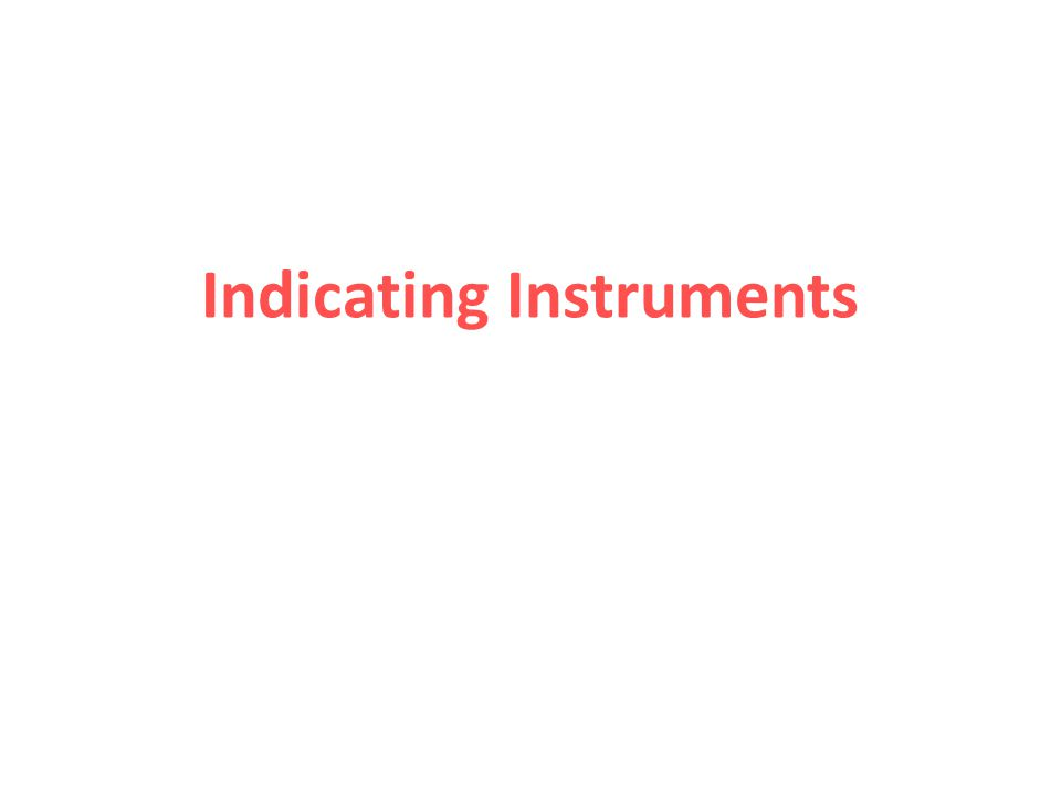 Indicating Instruments