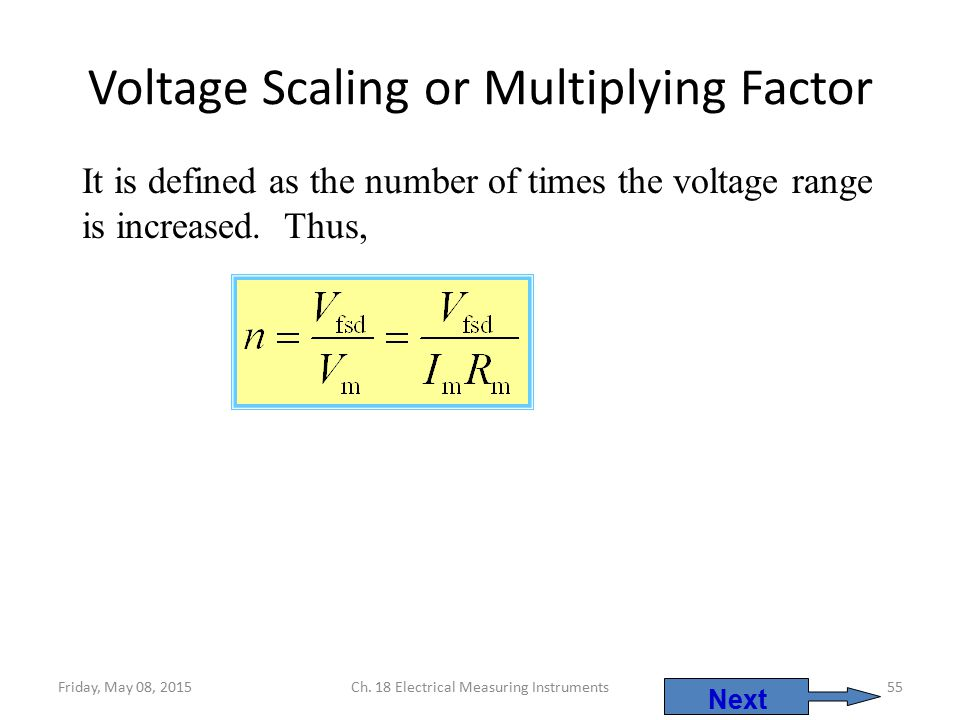 Voltage Scaling or Multiplying Factor