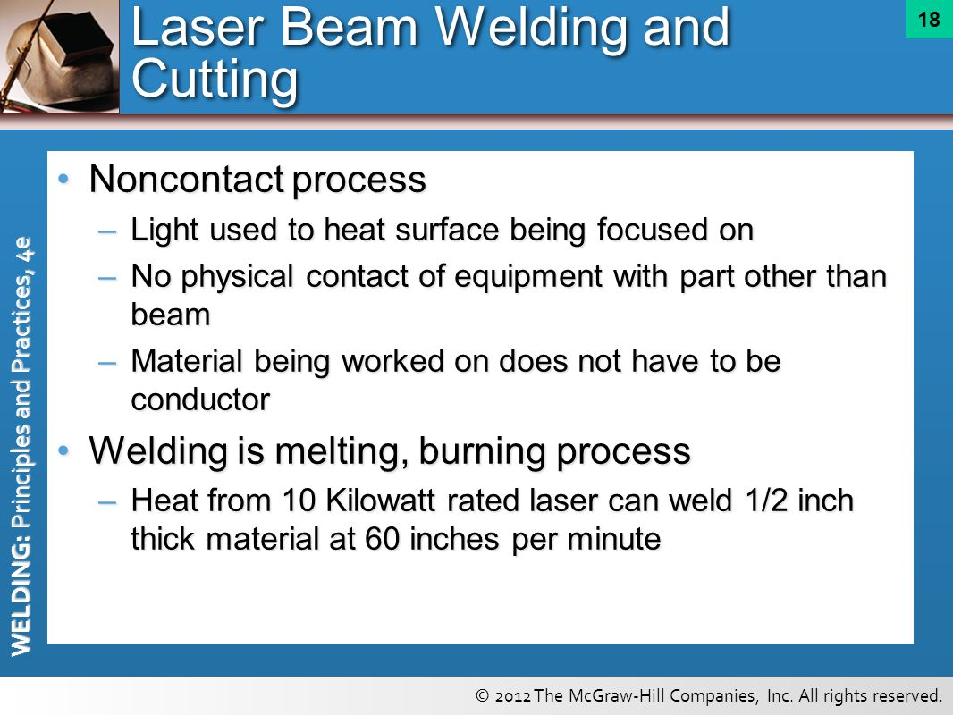 Laser Beam Welding and Cutting