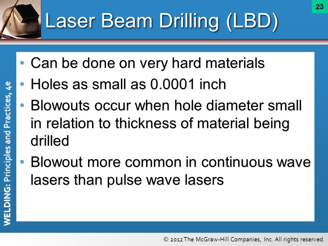 Laser Beam Drilling (LBD)