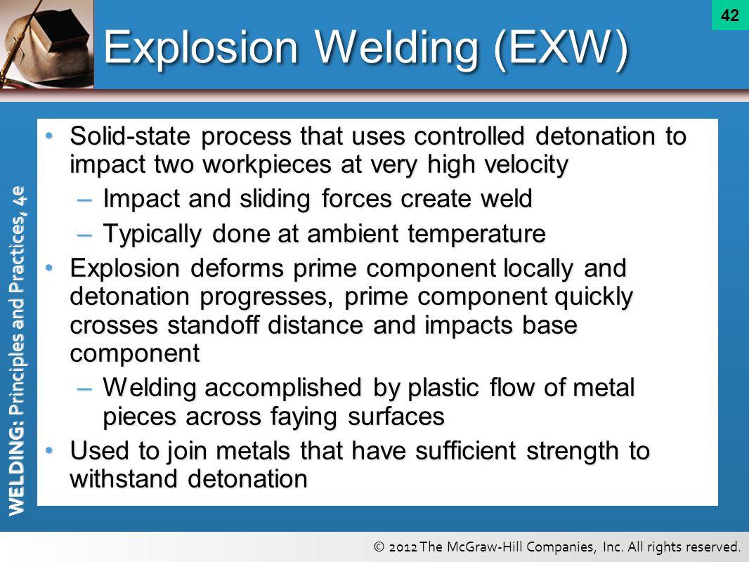 Explosion Welding (EXW)