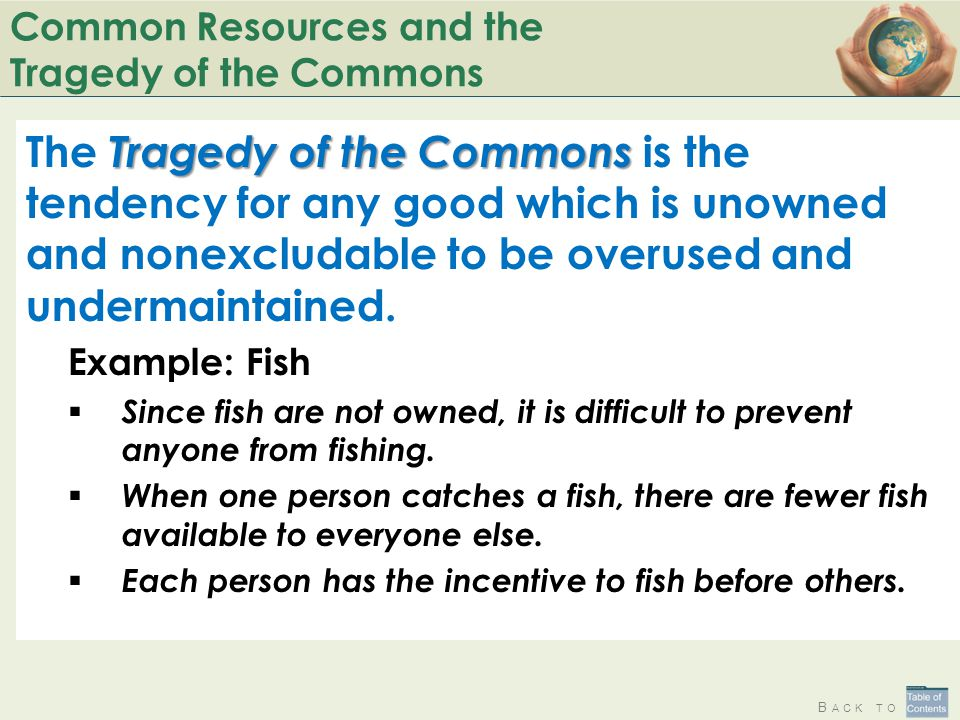 Common Resources and the Tragedy of the Commons