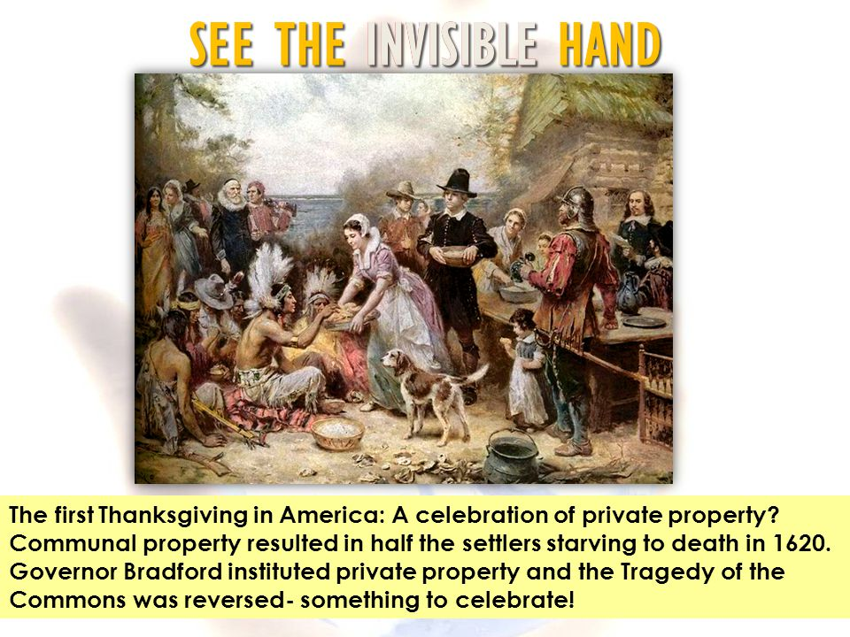 The first Thanksgiving in America: A celebration of private property