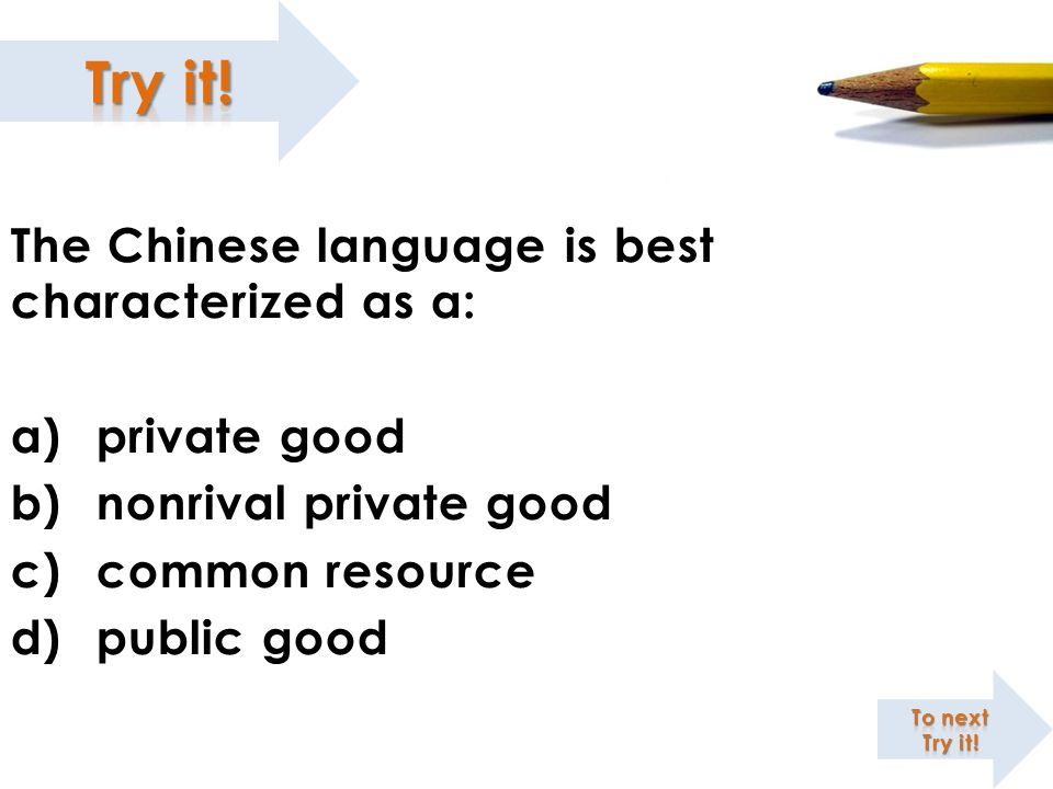 The Chinese language is best characterized as a: