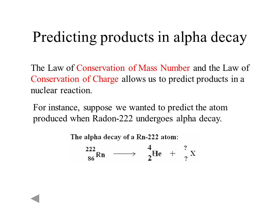 Predicting products in alpha decay
