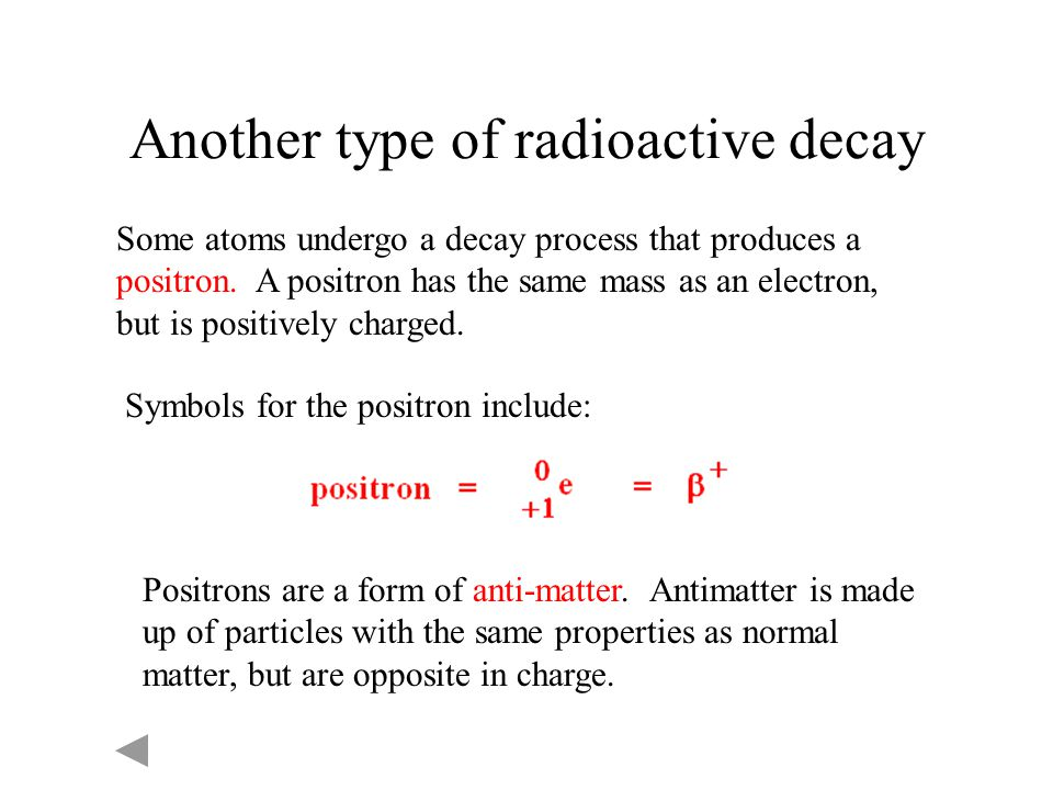 Another type of radioactive decay