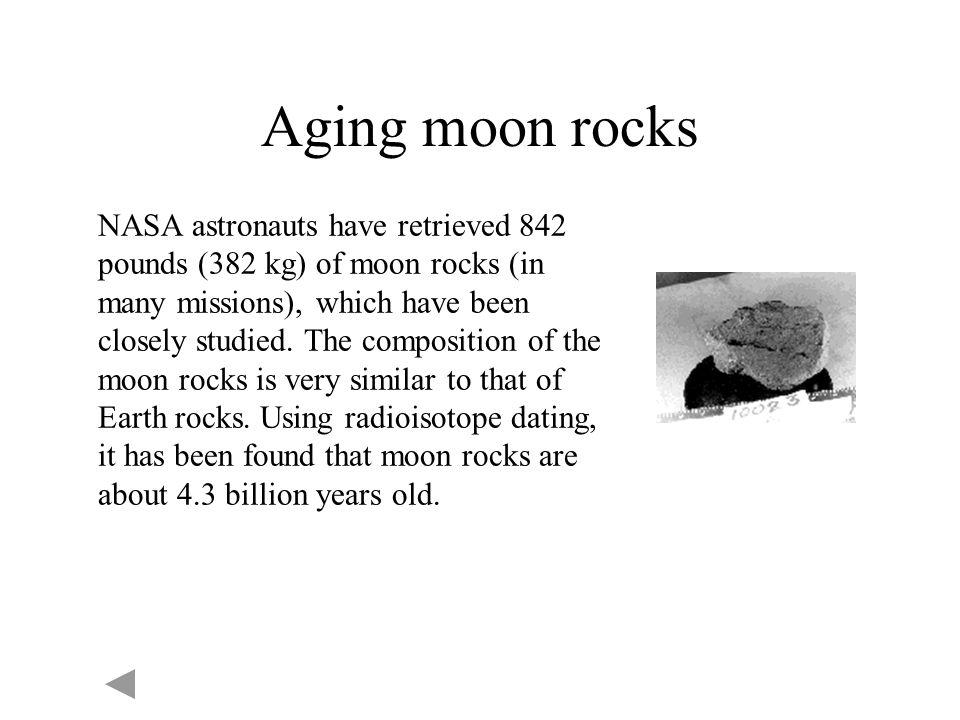 Aging moon rocks