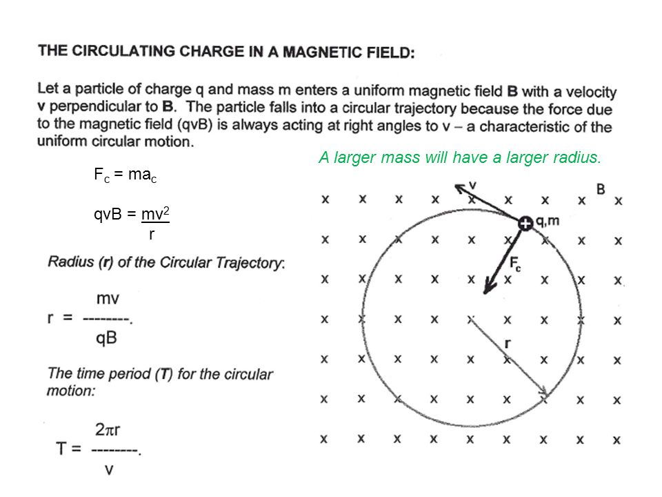 A larger mass will have a larger radius.