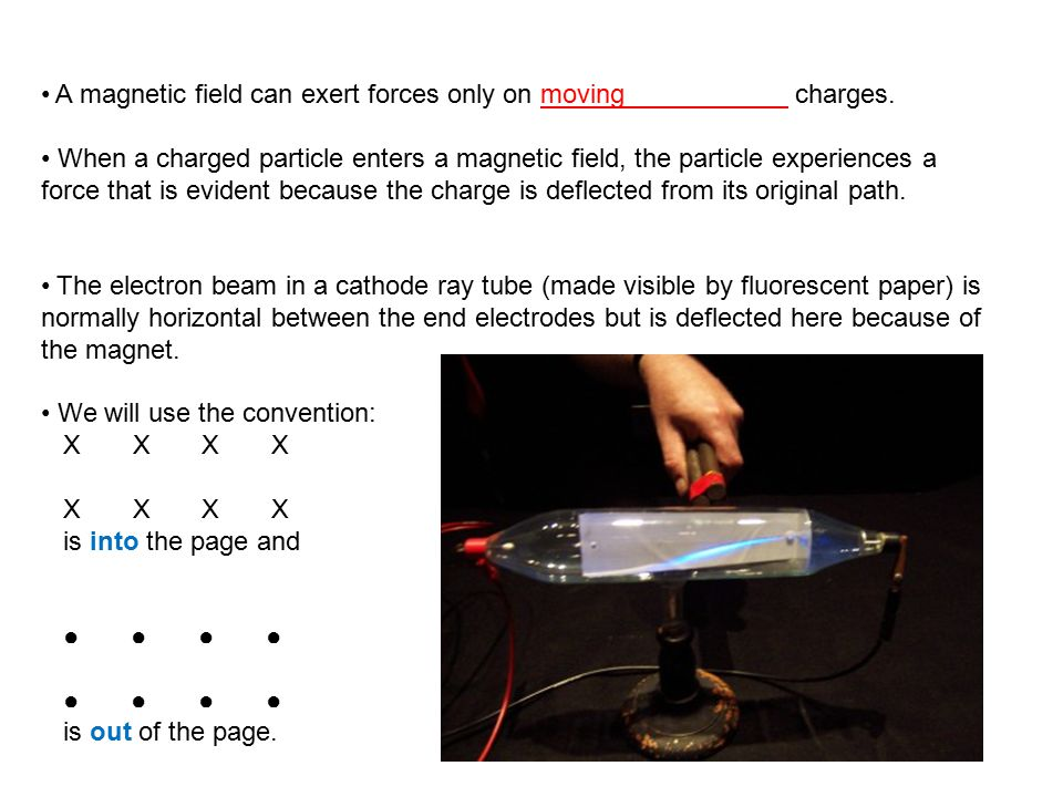 A magnetic field can exert forces only on moving charges.