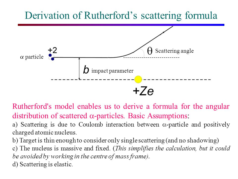 Derivation of Rutherford's scattering formula