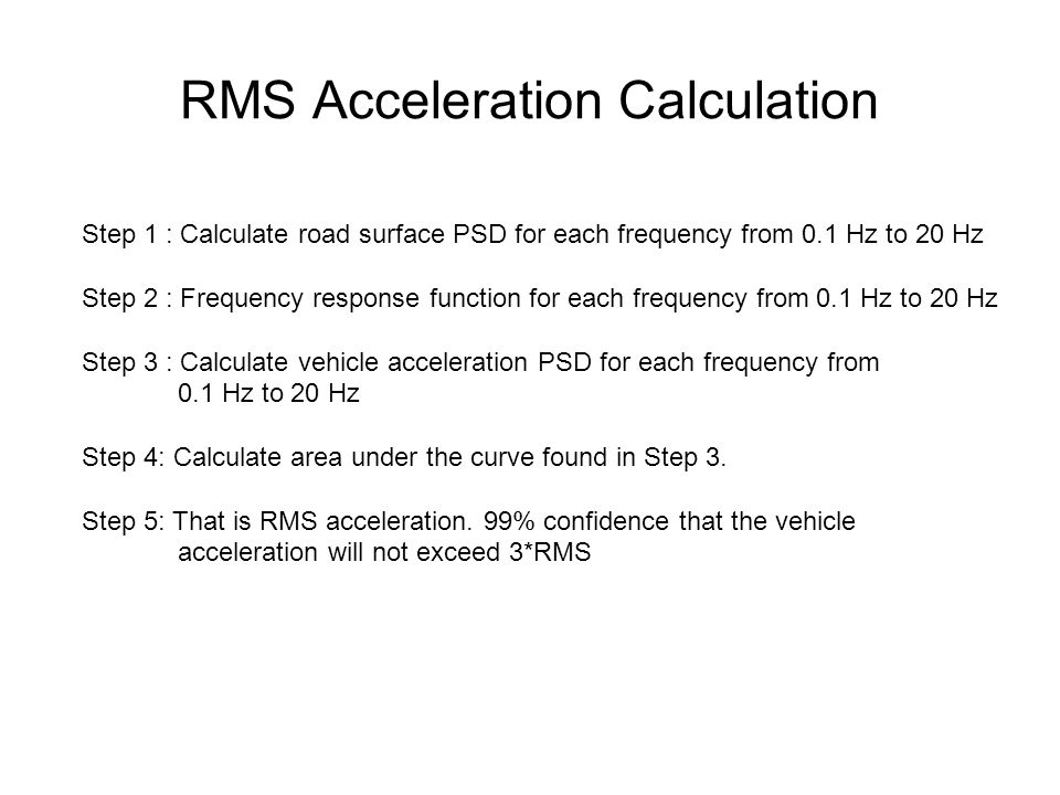 RMS Acceleration Calculation