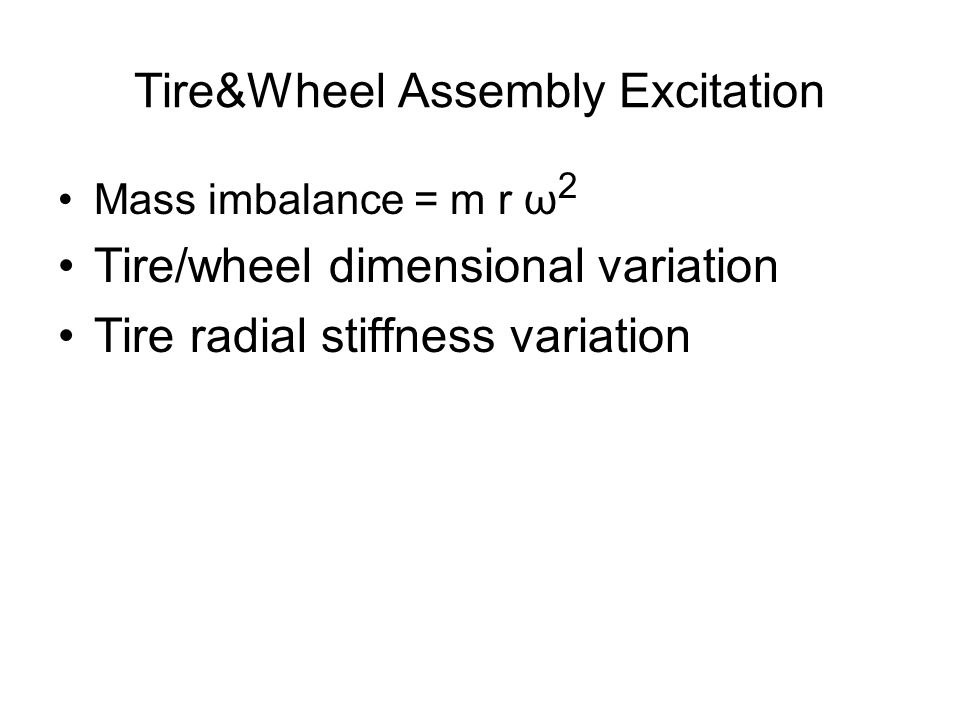 Tire&Wheel Assembly Excitation