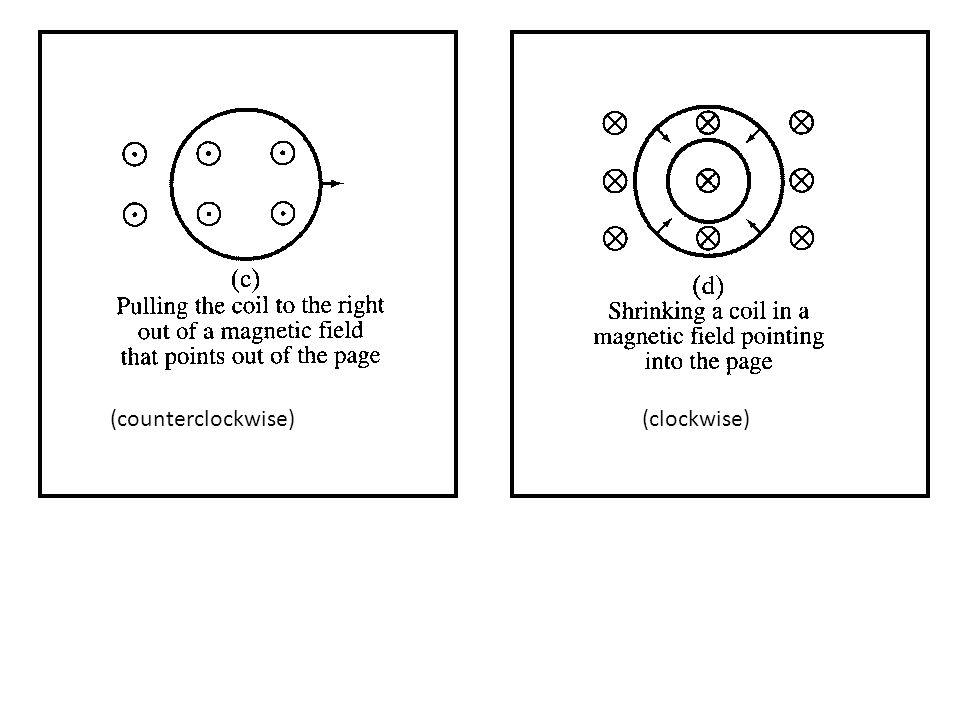 (counterclockwise) (clockwise)
