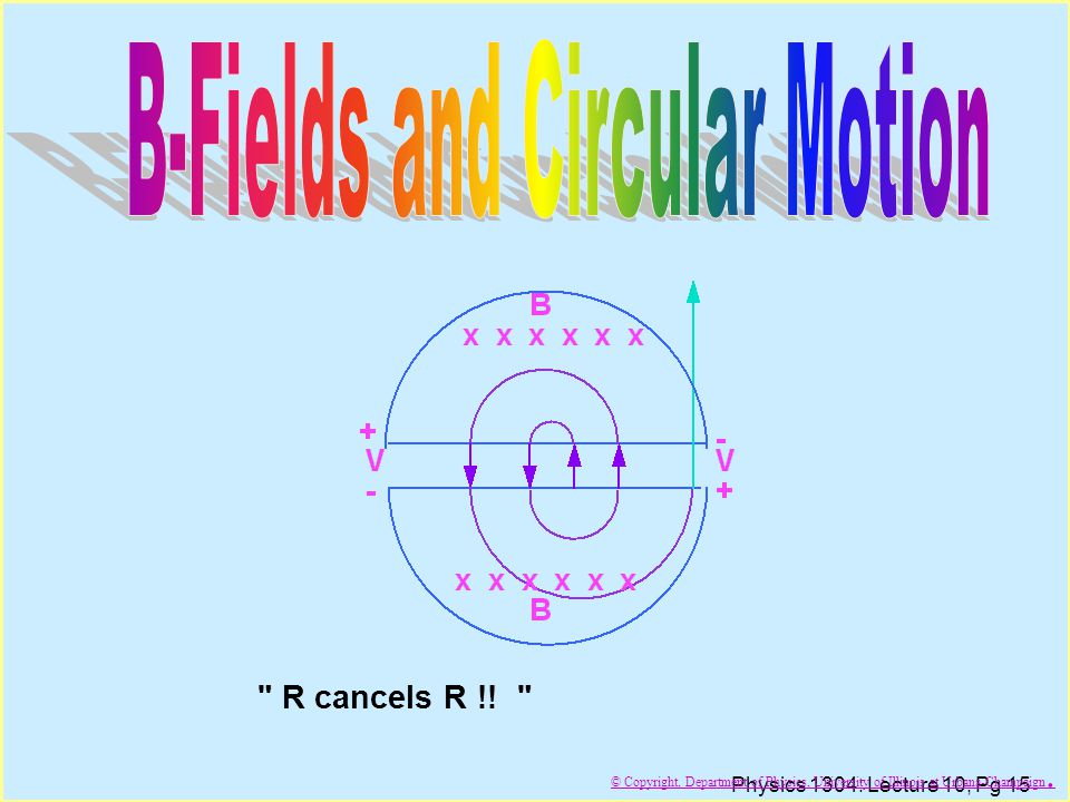 B-Fields and Circular Motion