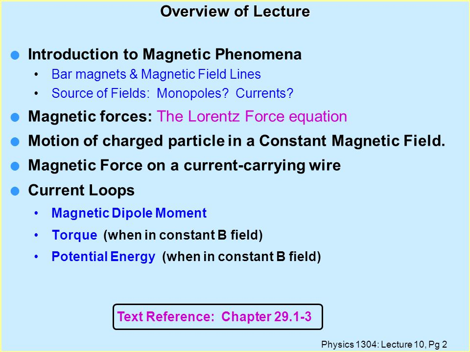 Introduction to Magnetic Phenomena