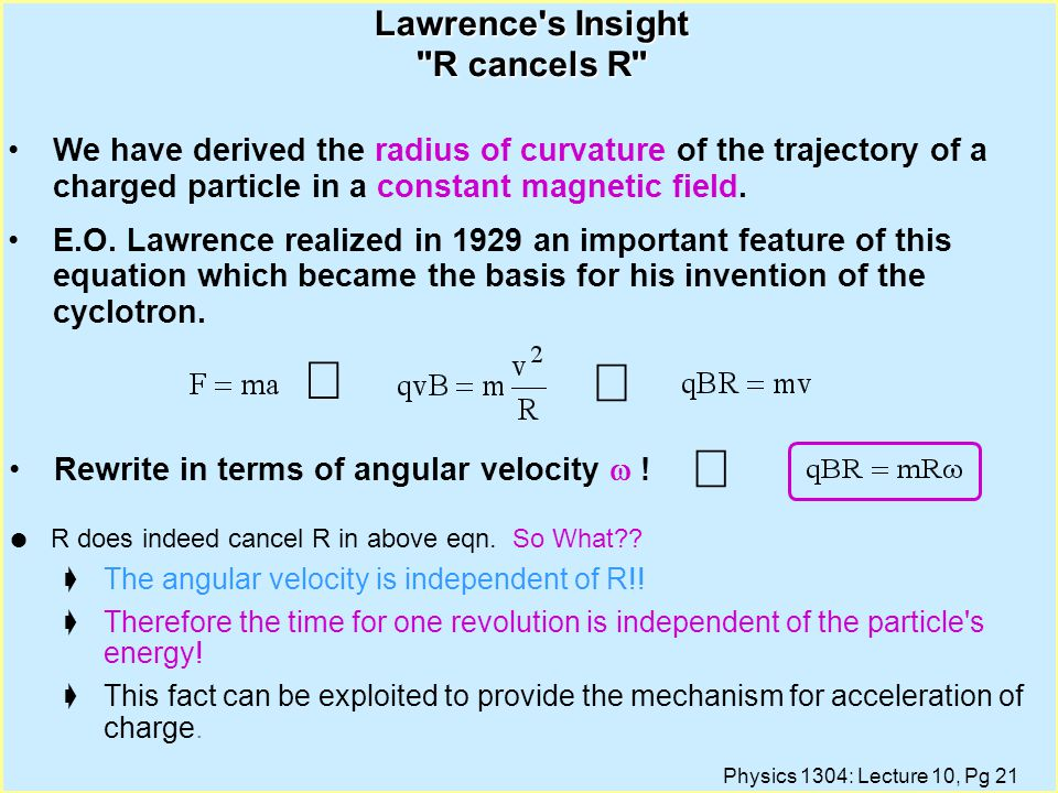 Lawrence s Insight R cancels R