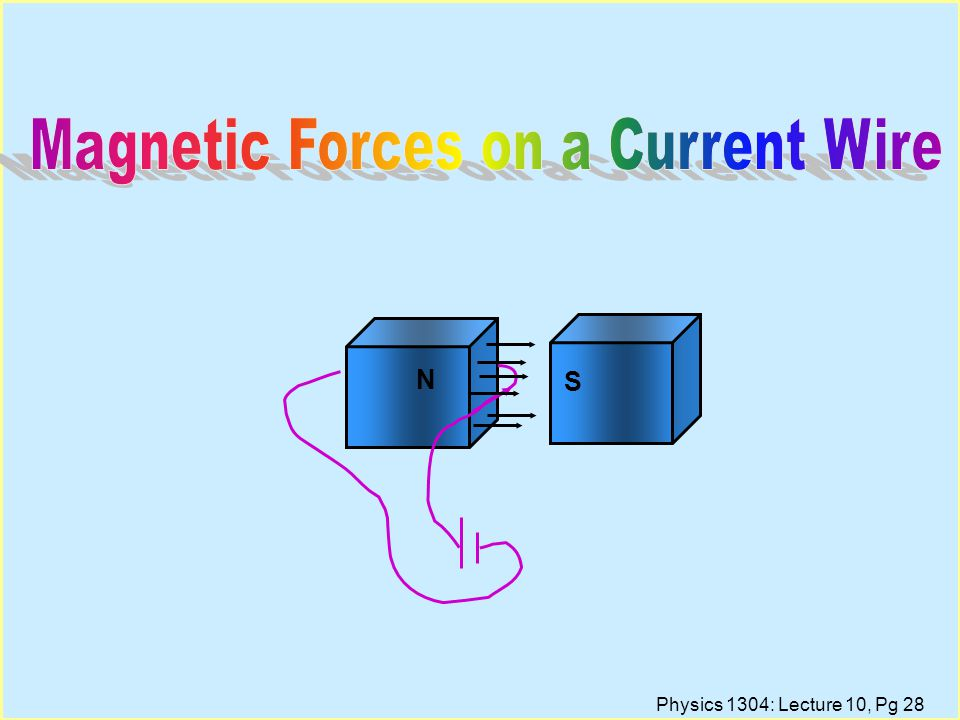 Magnetic Forces on a Current Wire