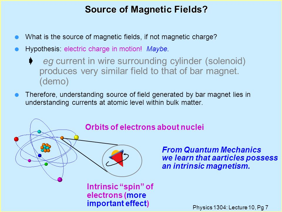 Source of Magnetic Fields