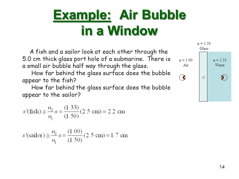 Example: Air Bubble in a Window