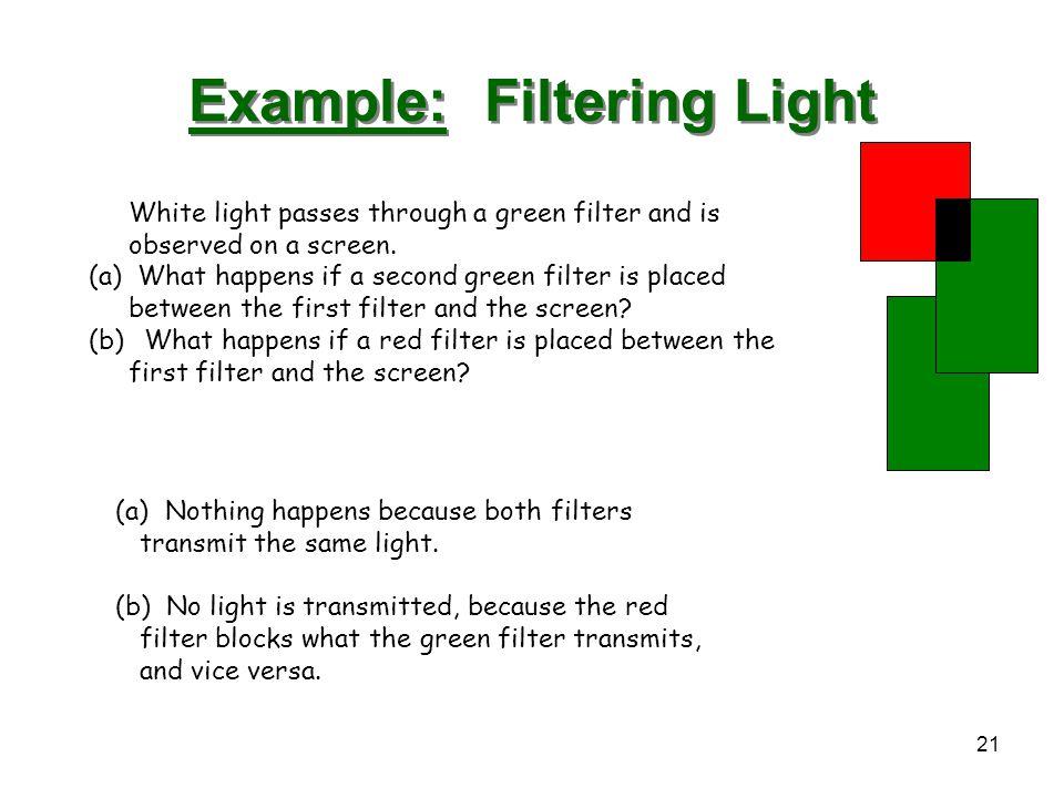 Example: Filtering Light