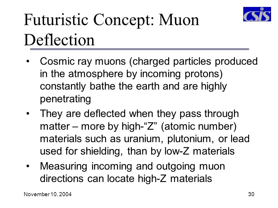 Futuristic Concept: Muon Deflection