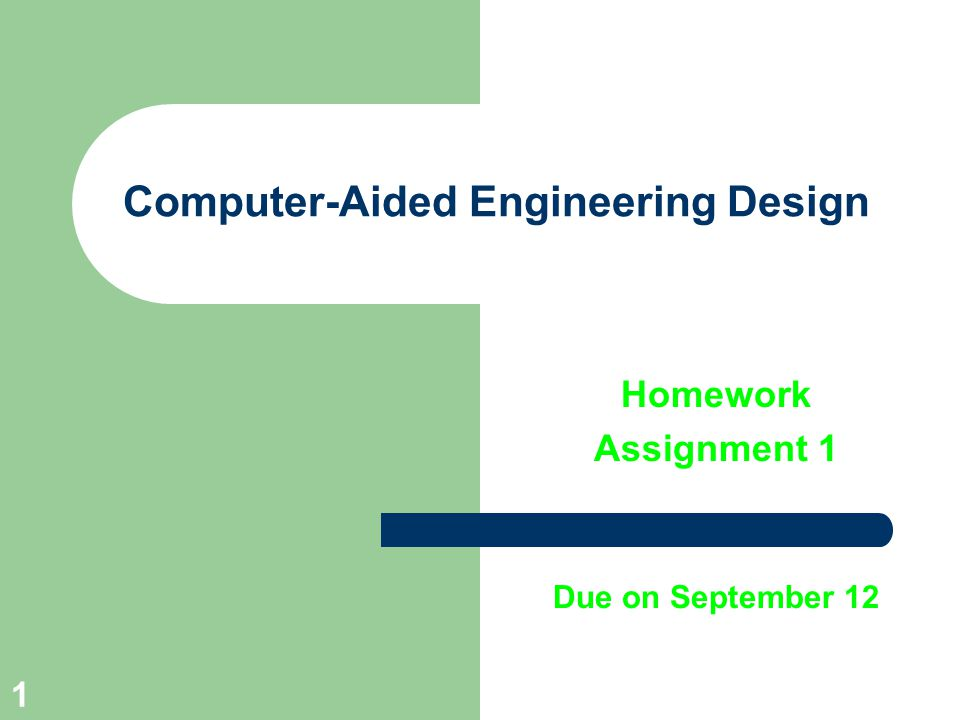 Computer-Aided Engineering Design