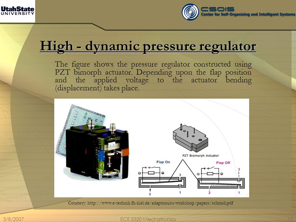 High - dynamic pressure regulator