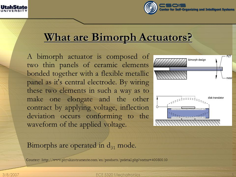 What are Bimorph Actuators
