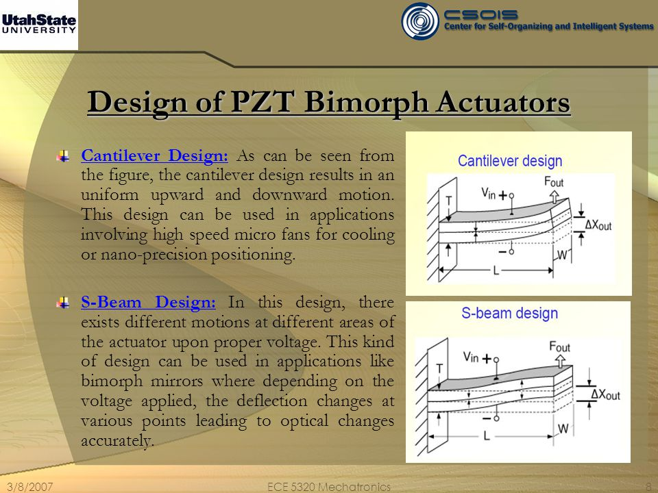 Design of PZT Bimorph Actuators