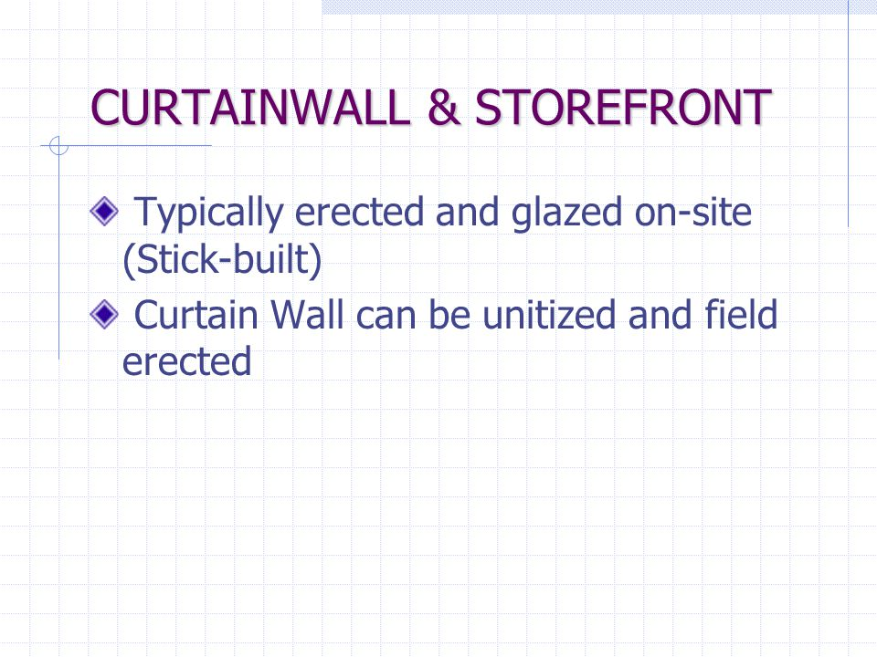 CURTAINWALL & STOREFRONT