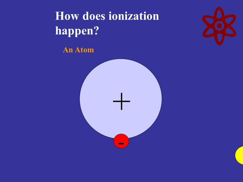 How does ionization happen