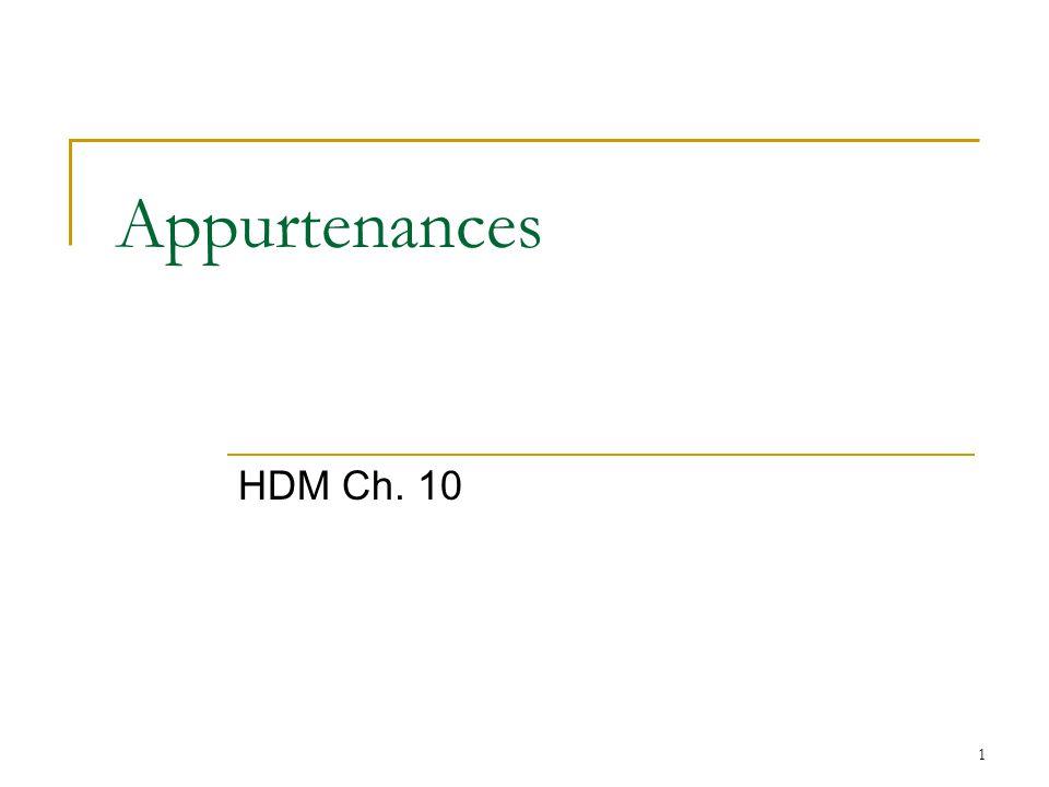 Appurtenances HDM Ch. 10