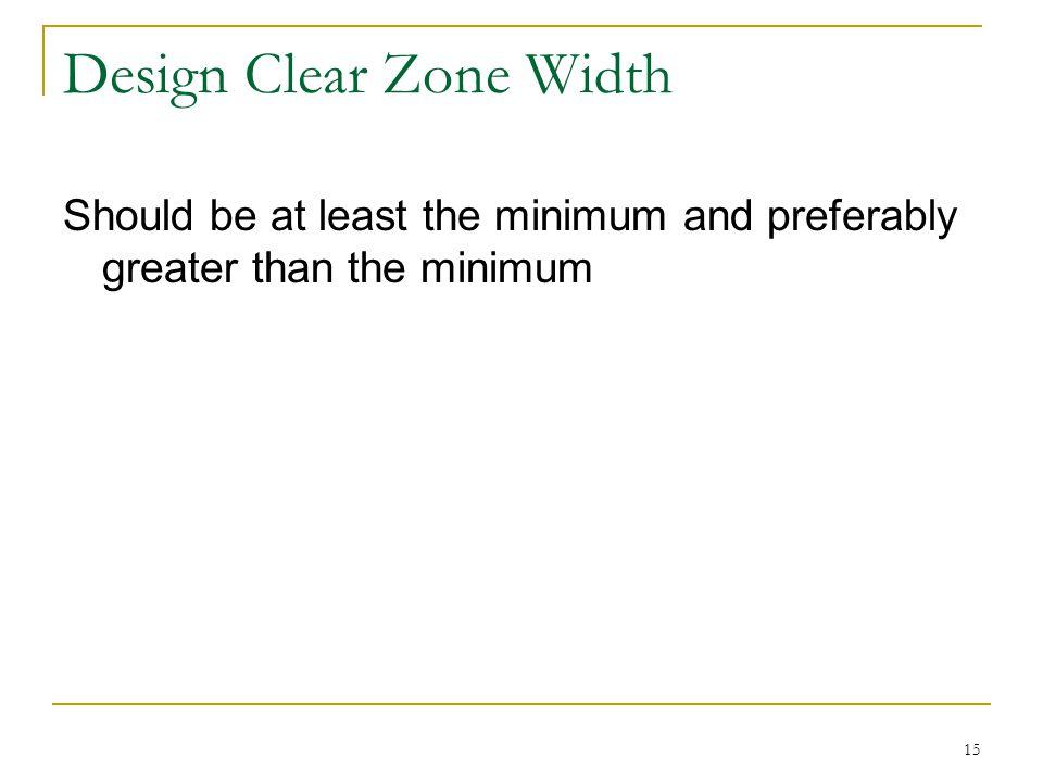 Design Clear Zone Width